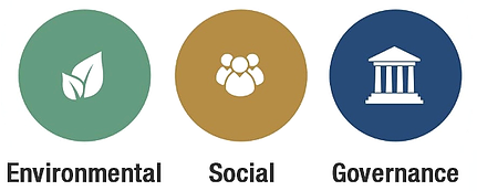 Environmental, Social, and Governance icons